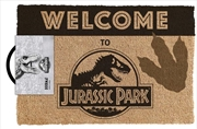 Jurassic Park - Welcome (with de-bossed footprint)