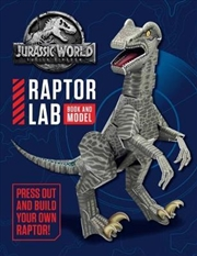Jurassic World: Fallen Kingdom Raptor Lab Book and Model | Hardback Book