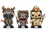 Star Wars - Teebo, Chief Chirpa, Logray US Exclusive Pop! 3-Pack
