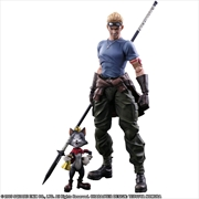 Final Fantasy VII - Cid Highwind & Cait Sith Play Arts Action Figure