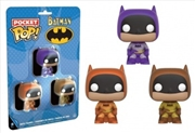 Batman - Brown, Purple & Orange US Exclusive Pocket Pop! 3 Pack | Pop Vinyl