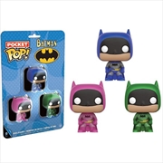Batman - Pink, Green & Blue US Exclusive Pocket Pop! 3 Pack | Pop Vinyl