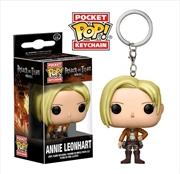 Attack on Titan - Annie Leonhart Pocket Pop! Keychain | Pop Vinyl
