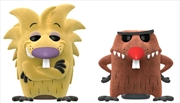 Angry Beavers - Norbert and Daggett Flocked US Exclusive Pop! Vinyl 2-pack | Pop Vinyl