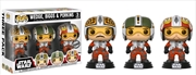 Star Wars - Red Squadron Wedge, Biggs & Porkins US Exclusive Pop! Vinyl 3-pack | Pop Vinyl