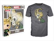 Thor - Loki Pop! T-Shirt Mens Charcoal XXL | Apparel