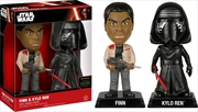 Star Wars - Finn & Kylo Ren Episode VII The Force Awakens US Exclusive Wacky Wobbler 2 Pack | Merchandise