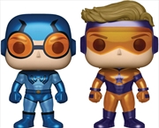 DC Comics - Blue Beetle & Booster Gold Metallic US Exclusive Pop! Vinyl 2-pack | Pop Vinyl