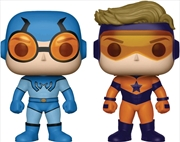 DC Comics - Blue Beetle & Booster Gold US Exclusive Pop! Vinyl 2-pack | Pop Vinyl