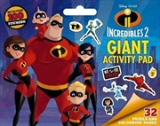 Disney Incredibles 2 Giant Activity Pad | Paperback Book