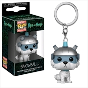 Rick & Morty - Snowball Pocket Pop! Keychain | Pop Vinyl