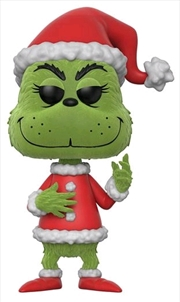 Dr Seuss - Santa Grinch Flocked US Exclusive Pop! Vinyl
