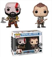 God of War (2018) - Kratos & Atreus US Exclusive Pop! Vinyl 2-pack | Pop Vinyl