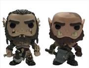 Warcraft Movie - Durotan & Orgrim US Exclusive Pop! Vinyl 2 Pack | Pop Vinyl