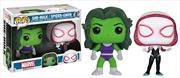 Marvel - She-Hulk & Spider-Gwen US Exclusive Pop! Vinyl 2-Pack | Pop Vinyl