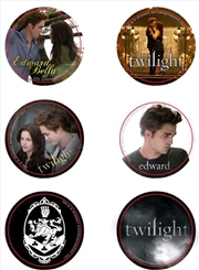 Twilight - Pin Set of 6 Style B Cullen Crest | Accessories