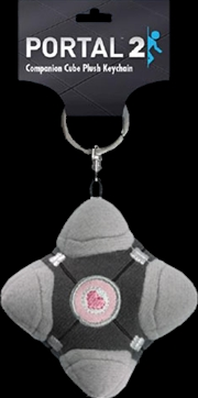 Portal 2 - Companion Cube Plush Keychain