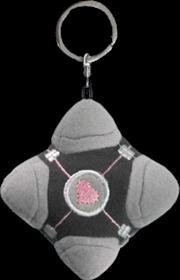 Portal - Original Companion Cube Plush Keychain | Accessories