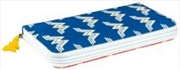 Wonder Woman - Red/Blue Pattern Clutch Wallet | Apparel