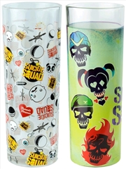 Suicide Squad - Skulls and Pattern Tumbler Set of 2 | Merchandise