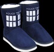 Doctor Who - TARDIS Boot Slipper Ladies Size 7
