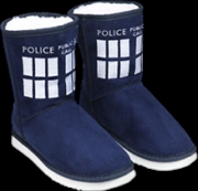 Doctor Who - TARDIS Boot Slipper Ladies Size 9 | Apparel
