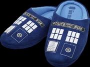 Doctor Who - TARDIS Printed Slippers Ladies 10 | Apparel