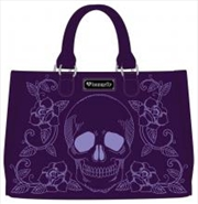 Floral Skull Double Handle Bag