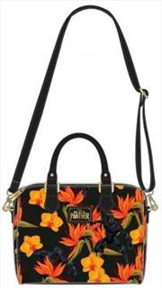 Black Panther - Floral Duffle Bag