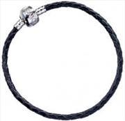 Leather Charm Bracelet 18cm