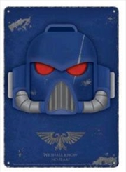 Space Marine Helmet Tin Sign