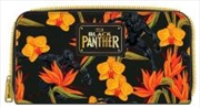 Black Panther - Floral Zip Around Wallet | Apparel