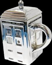 Tardis Mug With Lid Silver | Merchandise