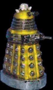 Dalek Yellow 5 Inch Glass Xmas