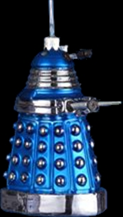Dalek Blue 5 Inch Glass Xmas
