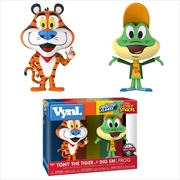 Ad Icons - Tony Tiger & Dig Em Frog US Exclusive Vynl.
