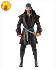 Captain Black Heart Adult pirate Costume - Size Std   Apparel