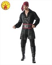 Black Beard Deluxe Adult Costume - Size Std   Apparel