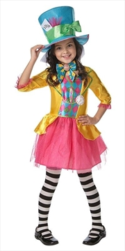 Mad Hatter Girls Deluxe Costume Size 6-8 | Apparel