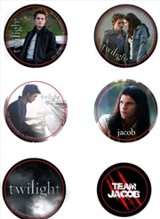 Twilight - Pin Set of 6 Style A Team Jacob