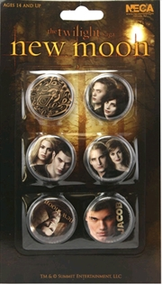 The Twilight Saga: New Moon - Pin Set of 6 Jacob & the Cullens
