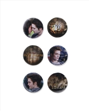 The Twilight Saga: New Moon - Pin Set of 6 Edward Second Set | Merchandise