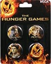 The Hunger Games - Pin Set of 4 Cast | Merchandise