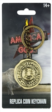 American Gods - Gold Coin Replica Keychain