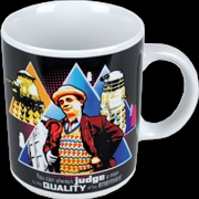 """Doctor Who - Seventh Doctor """"Judge A Man by the Quality of his Enemies"""" Quote Boxed Mug 