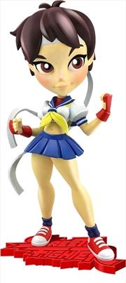 "Street Fighter - Sakura 7"" Knock-Outs Vinyl Statue | Merchandise"