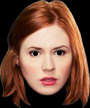 Doctor Who - Amy Pond Cardboard Mask   Apparel