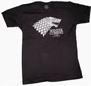 Game of Thrones - Stark Winter Male T-Shirt L | Apparel