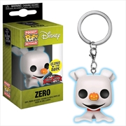The Nightmare Before Christmas - Zero Glow Pocket Pop! Keychain [RS]