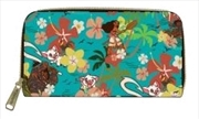 Moana - Floral Zip-Around Wallet